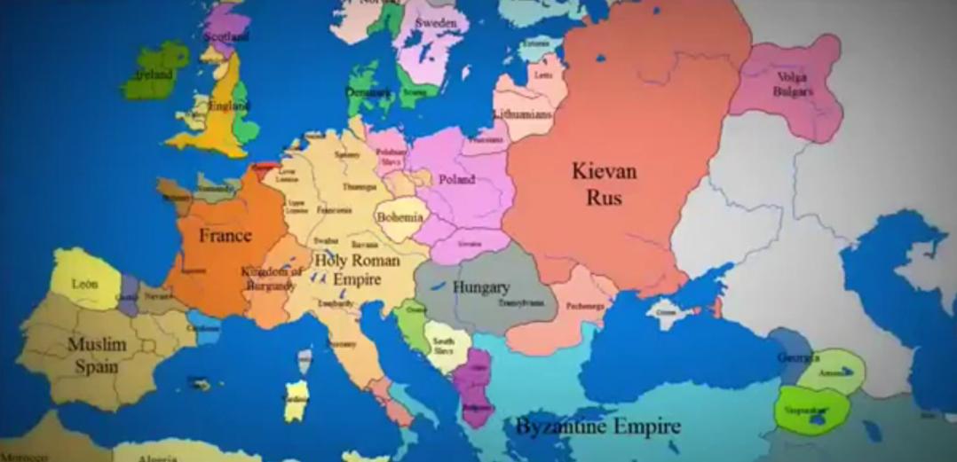 1000 ans de frontières européennes