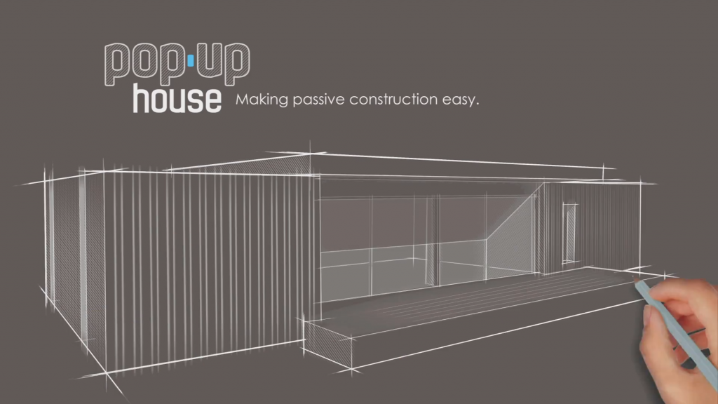 Pop up house la maison passive construite en 4 jours for Pliage maison pop up