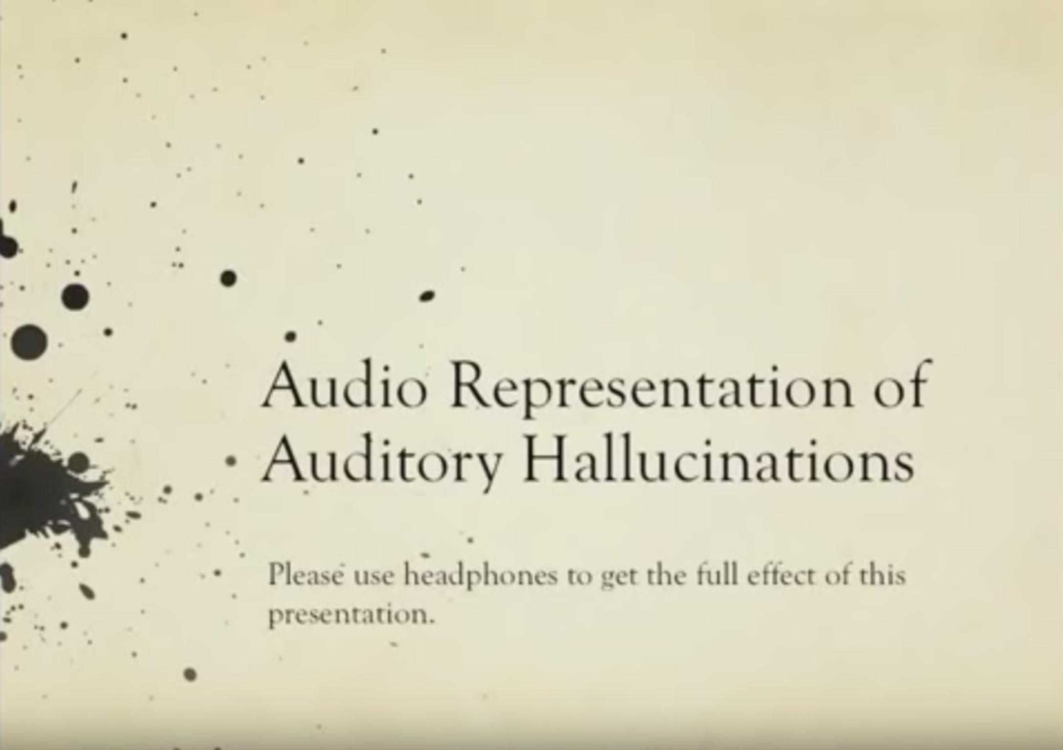 représentation audio schyzophrénie
