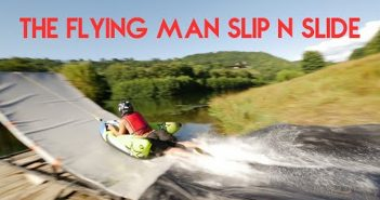 the flying man slip n slide